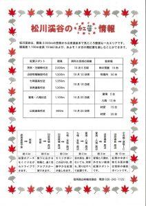 松川渓谷の紅葉情報のサムネイル